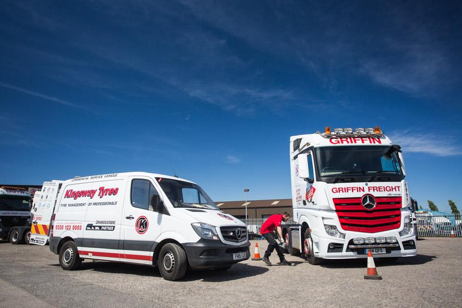 kingsway tyre vehicle fleet providing 24/7 breakdown coverage