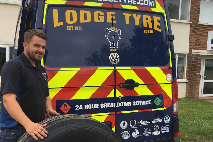 Lodge Tyre Co Ltd industry leading service for vans