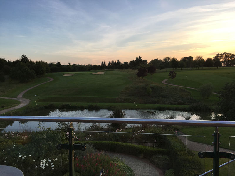 Sunset over Greetham Valley Golf Course