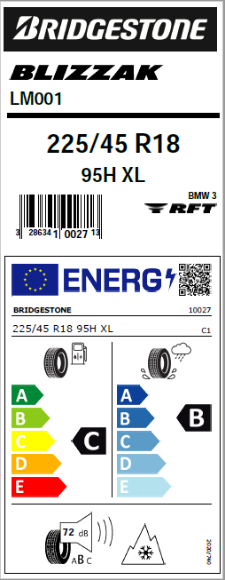 New tyre labelling system